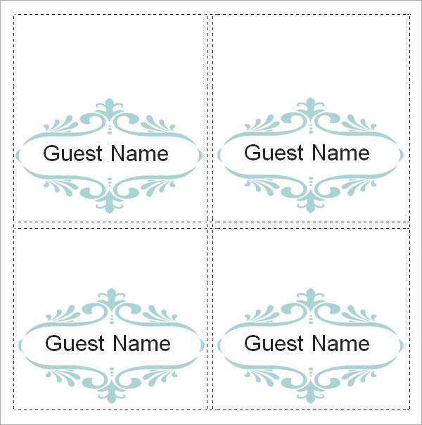 Free Wedding Place Card Template kicksneakers