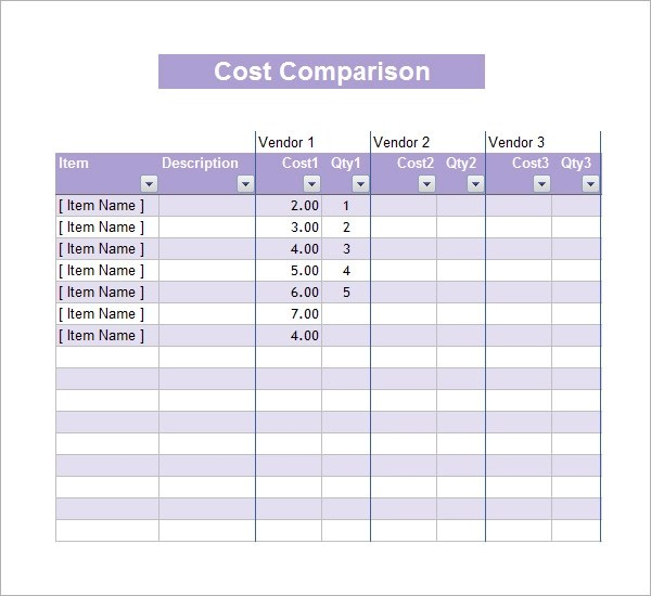 cost savings template excel - cost proposal template