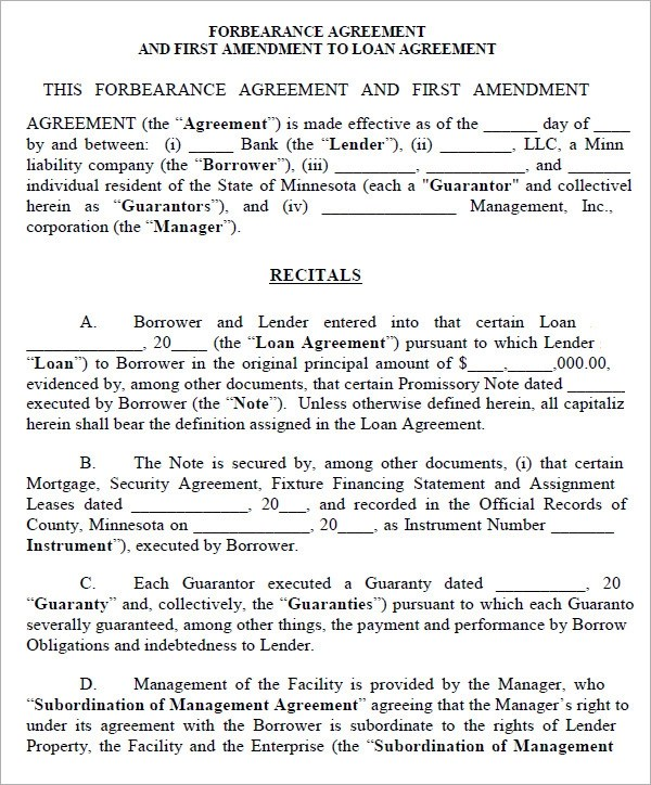 Doc600550 Sample Tolling Agreement Tolling Agreement 5 Free – Sample Forbearance Agreement