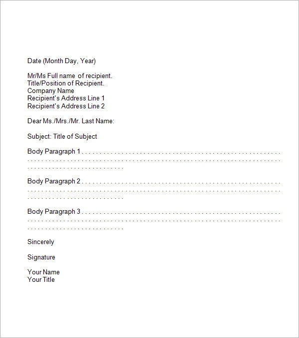 formal business memo template - formal letter template download