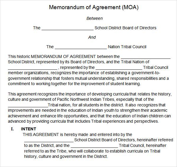Memorandum Of Understanding South Africa Template Images - Template