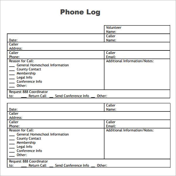 business communication log template