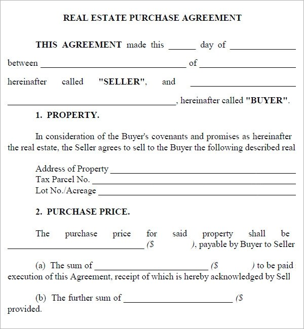 Real Estate Purchase Agreement Template 2014freerun5