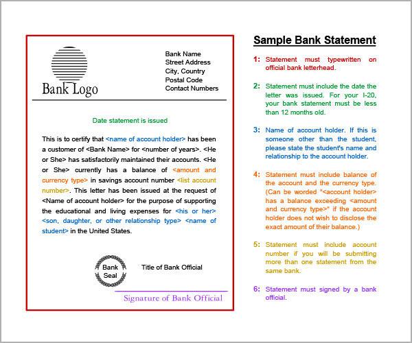 bank statement template pdf