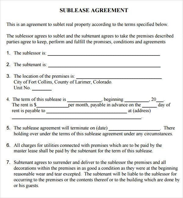 Termination Of Commercial Lease Agreement Template | Sample Resume