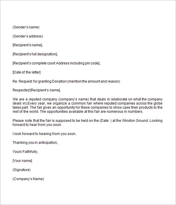 donation request letter template new samples for requesting - how to write a donation request letter