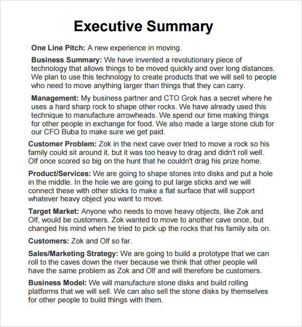 executive status report template