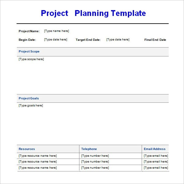 project task plan template - Free Excel Project Planning Templates