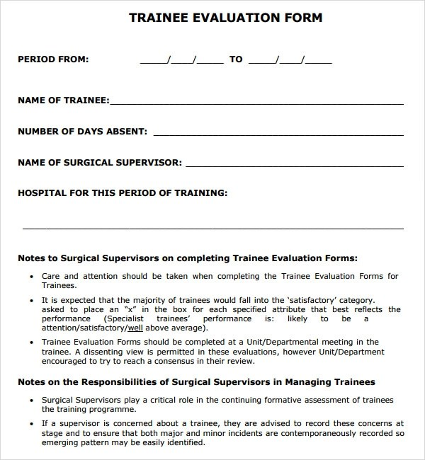 course evaluation form template - assessment form in pdf