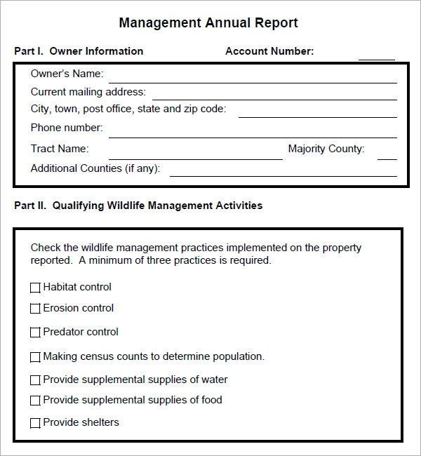 sample management report template - sample management report