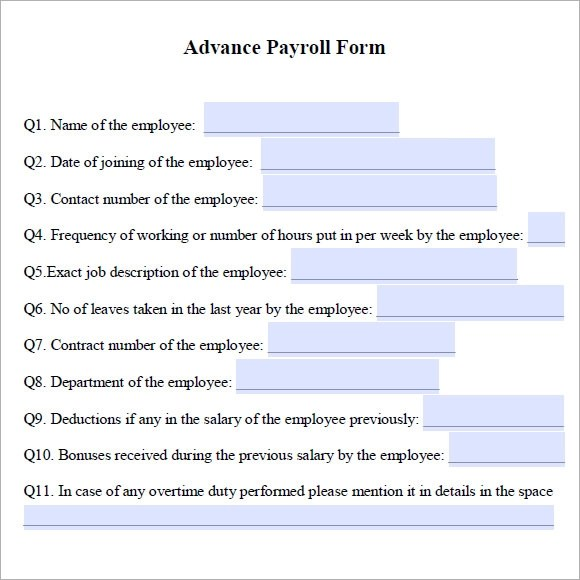 Employee Advance Form Hr Evaluation Forms Hr Templates Free Premium
