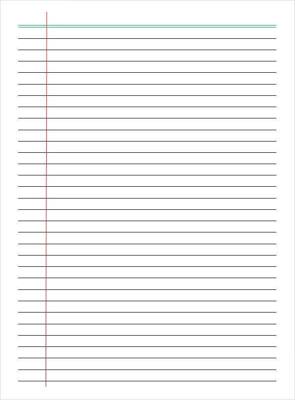 college ruled lined paper template - college ruled paper template for word