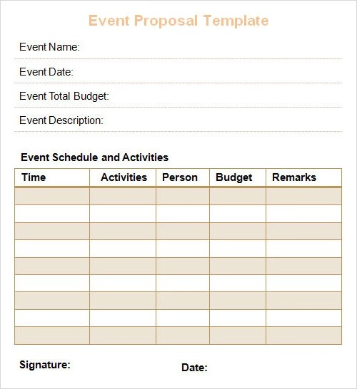 event proposal template word - free event proposal template download