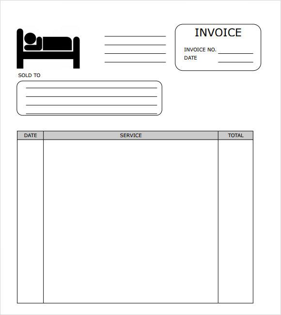 free hotel invoice template - Hotel Invoice