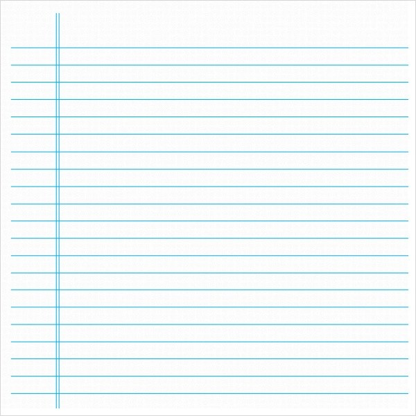 free printable notebook paper template