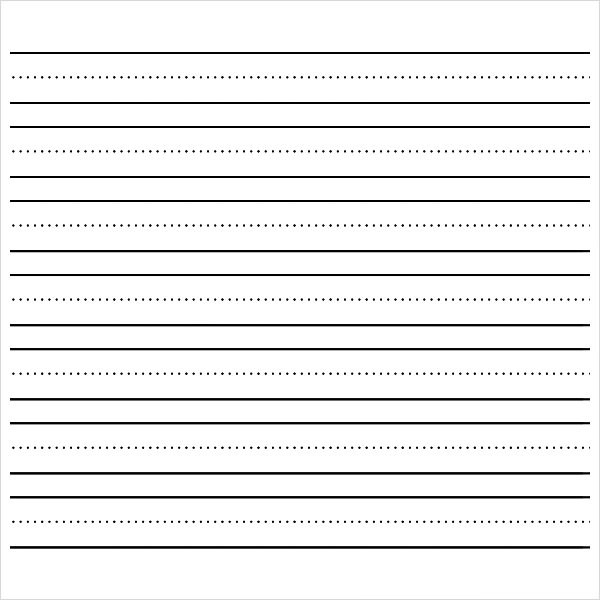 first grade lined paper printable - Towerssconstruction