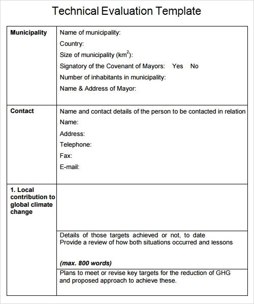 technical report template word - technical assessment template