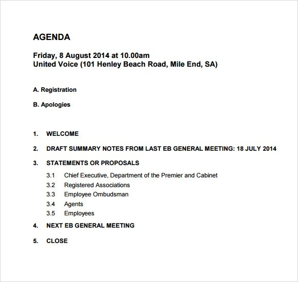 sales meeting agenda template - meeting agenda outline