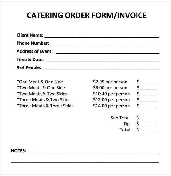 free catering invoice template - invoice sample