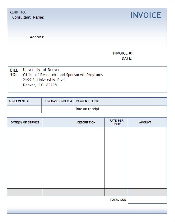 free word invoice template - invoice draft
