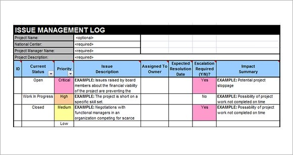 Project Issue Tracker Excel Template Image collections - Template