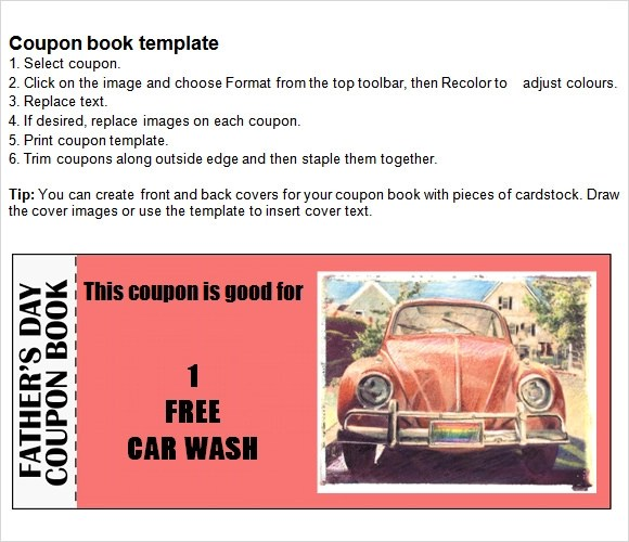 free business coupon template - free coupon book template