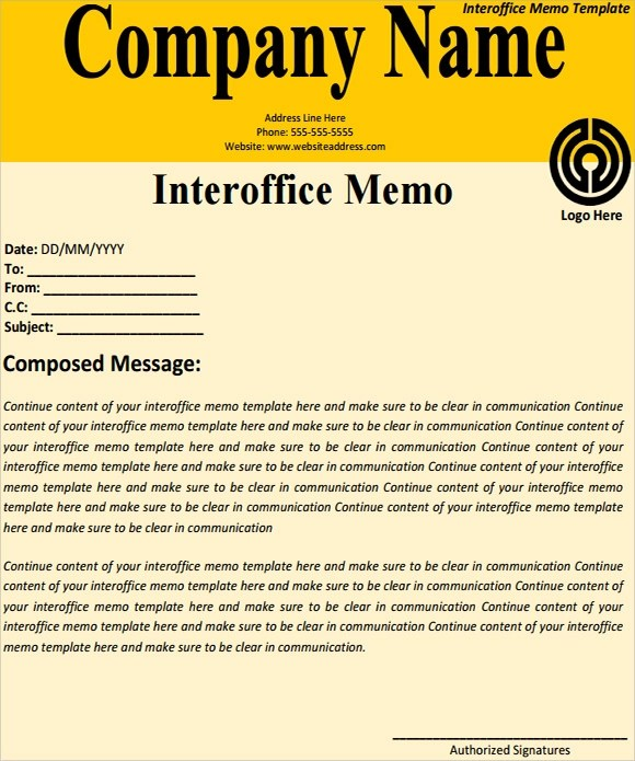 inter office memo template word