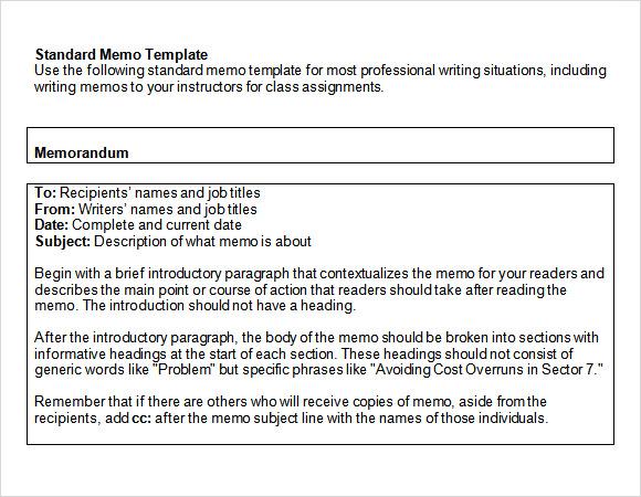 microsoft word memo template