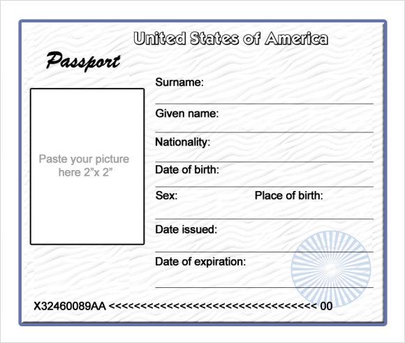 sample passport template - passport consent forms