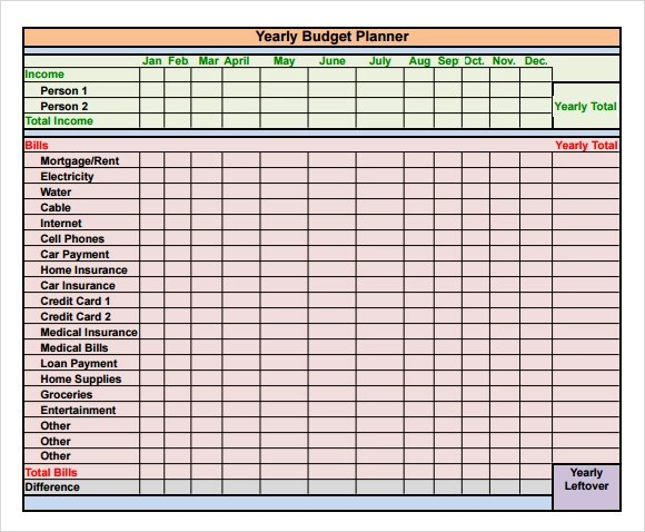 yearly budget template excel - Budget Tracking Template