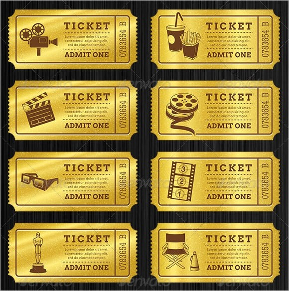 blank ticket template printable - blank admit one ticket template