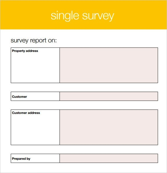 free sample survey templates - Free Survey Template