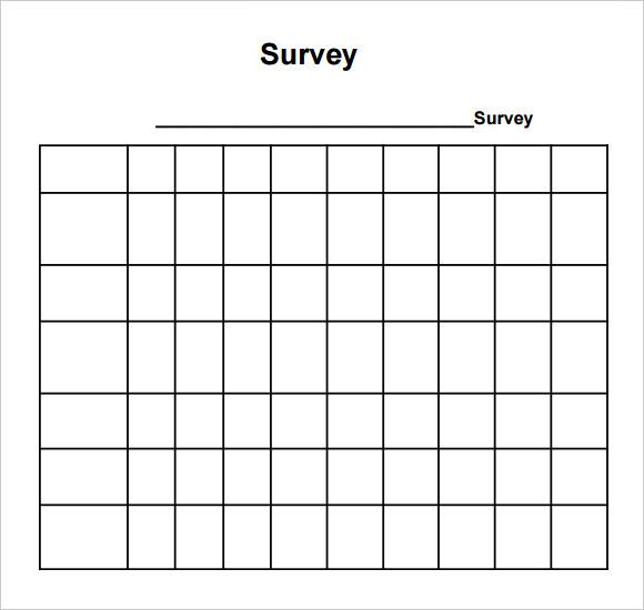 printable blank survey template