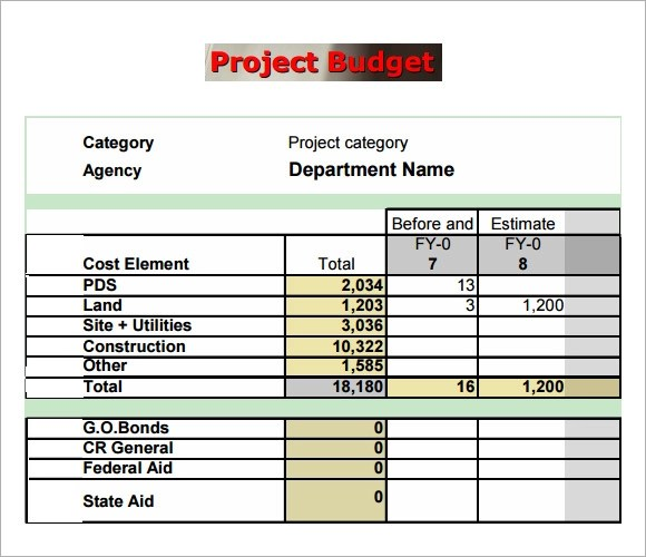 simple project budget template - Sample Budget Template