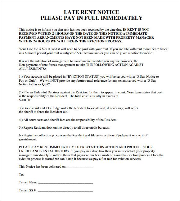 eviction notice template pdf - Josemulinohouse