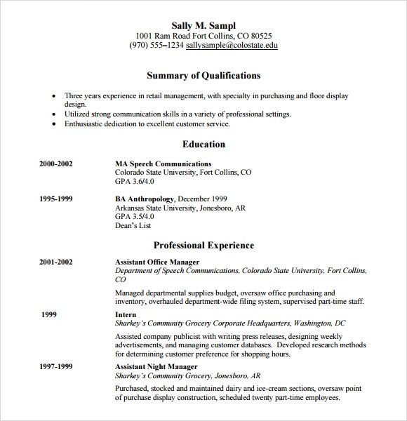 customer service resume template download