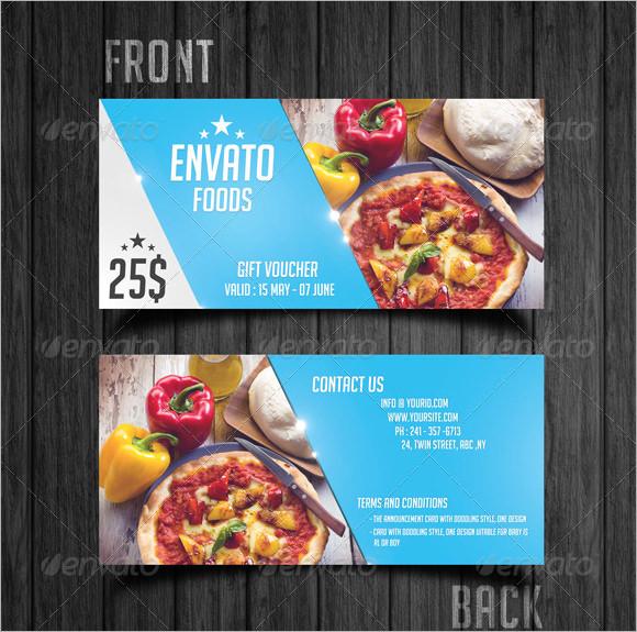 sample gift voucher template - food voucher template