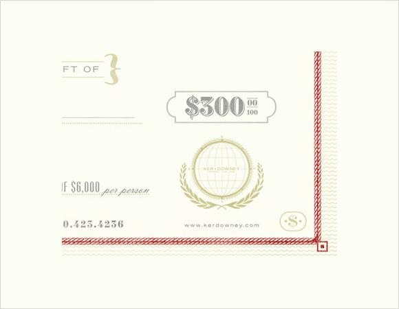 sample gift voucher template - gift certificate samples
