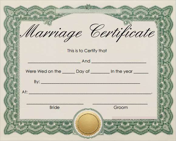 marriage certificate template - marriage certificate template
