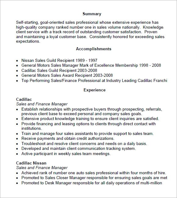 sales resume examples pdf   resume for a chef jobsales resume examples pdf grady marting sales executive chameleonresumes sales resume –  free samples examples