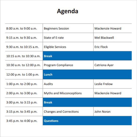 training meeting agenda template - political agenda template