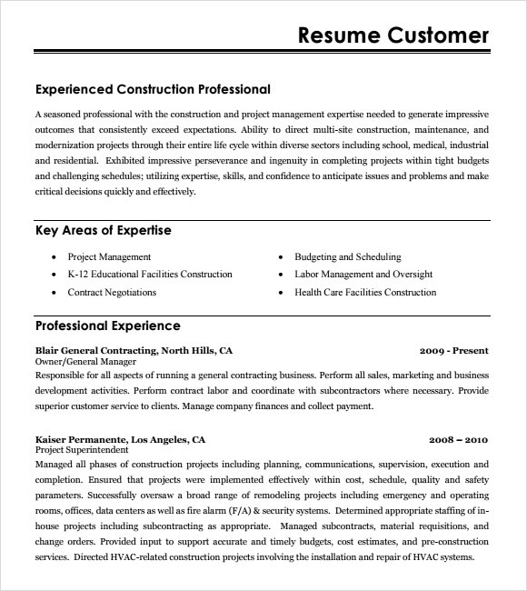 Resume Writing Service - Resumes Samples hvac estimator resume - construction estimator resumes