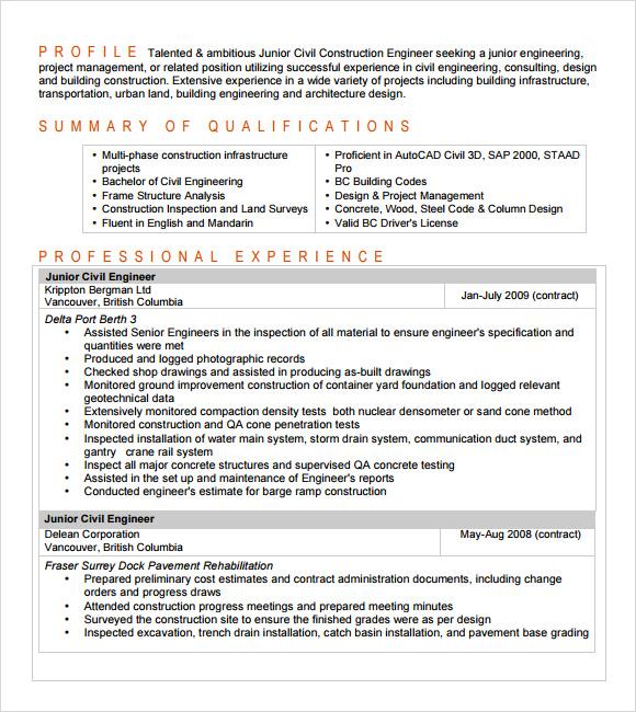 entry level engineering resumes - Manqalhellenes - engineering resume summary