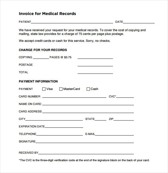 medical receipt template word - official receipt sample format