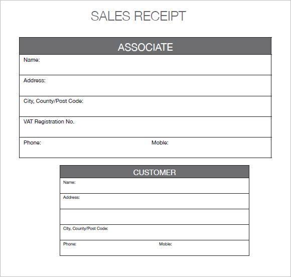 sales receipt template - car sales receipt template