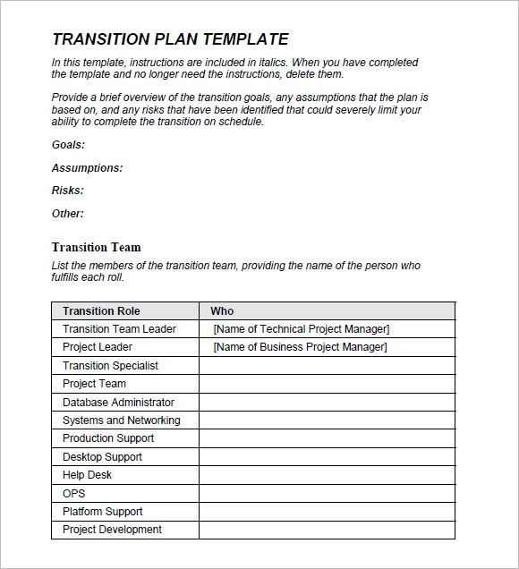 transition_plan_template1jpg - business project plan template
