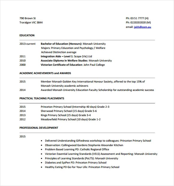 Tutor Sample Resume. English Teacher Resume Template English