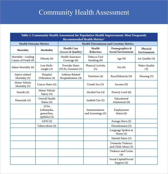 health assessment form template - assessment example pdf