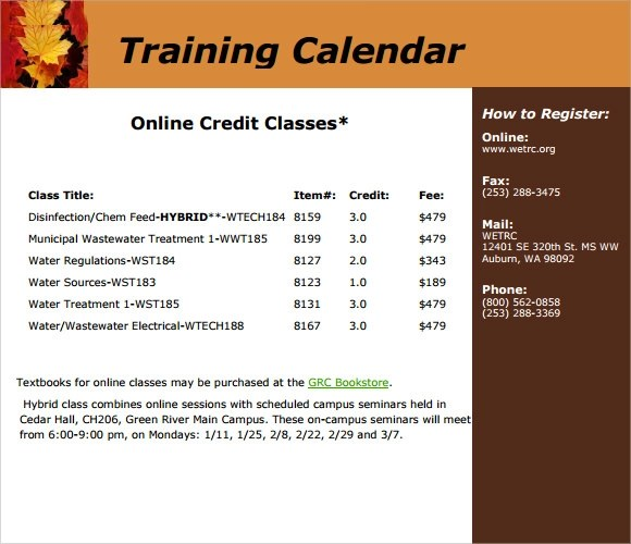 Training Calendar Template Images - Template Design Free Download - training calendar template