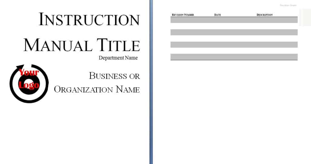 Instruction manual template Free Sample Templates